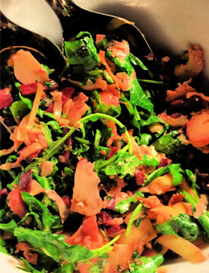 Ruccola-Artischocken-Salat