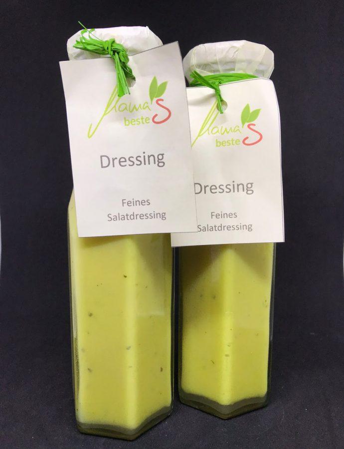 Salatdressing mit naturtrübem Apfelsaft