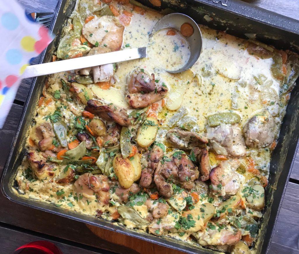 Hühnchen aus dem Ofen, Ofenrezept, Hühnchen aus der Auflaufform, Familytime, Partyrezept