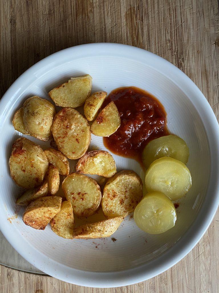 Katis Rezeptgeschichten, Schnelle Kartoffeln, Kartoffeln aus dem Airfryer, Kartoffeln aus der Heissluftfritteuse
