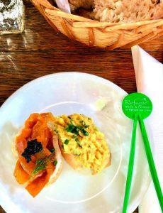 Veganer Karottenlachs und veganer Eiersalat