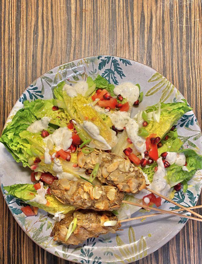 Kebab-Spieße mit Mandeln